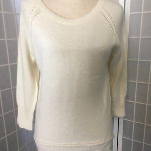 Cynthia Rowley Angora nylon hi lo sweater sz m